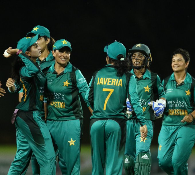 Pakistan women beat Bangladesh Women by 8 runs in their second Warm-up match. Pakistan: 106/7 (20 overs) | Bangladesh: 98/9 (20 overs) #BackOurGirls #WT20 Photo