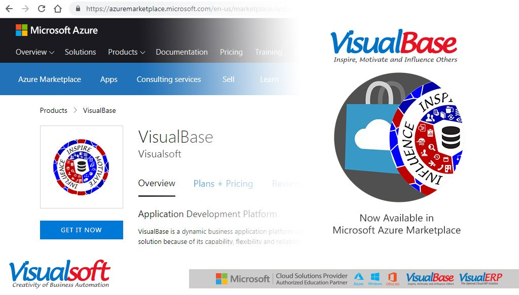 #VisualBase : Dynamic Business Application Platform is now available in #Microsoft #Azure #Marketplace (#AzureMktPlace).  https://t.co/ukv0CEGsuc