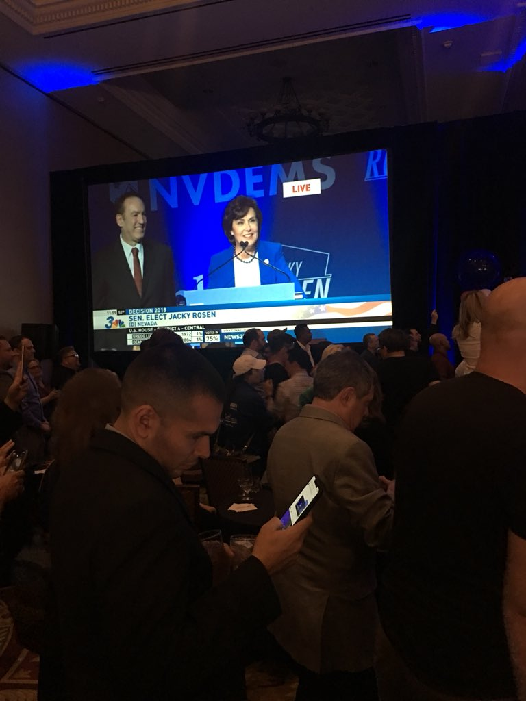 It's official, Nevada made it clear that we want leaders who will defend access to affordable health care and reproductive rights. Congrats @RosenforNevada and @SteveSisolak. #TakeItBack #PinkOutTheVote #NevadaElection<br>http://pic.twitter.com/bBaJxCdd8O