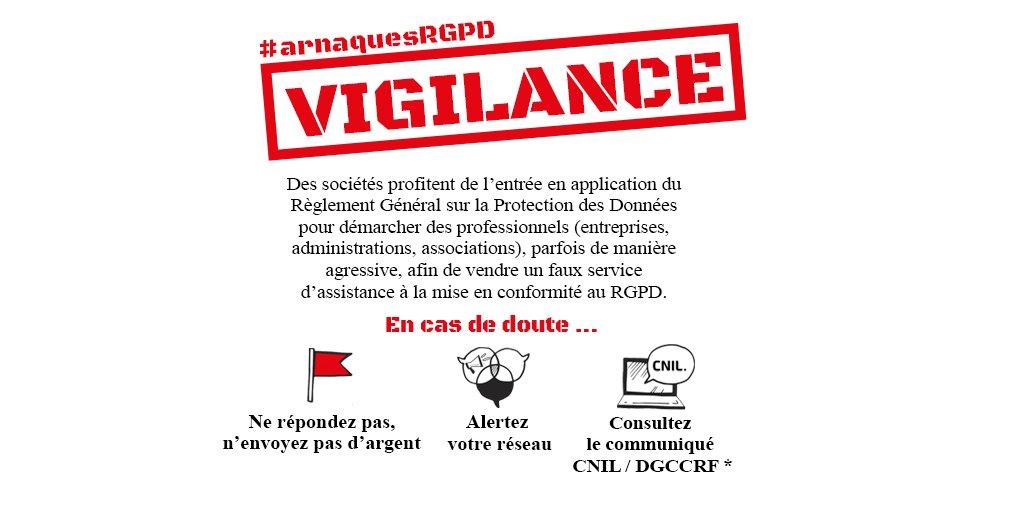 VIGILANCE | Gare aux #ArnaquesRGPD qui touchent les #TPE/#PME dans toute la France ! → cnil.fr/fr/pratiques-a…🔺Imprimez/affichez notre notice pour sensibiliser votre réseau local🔻Visualisez des exemples de courriers frauduleux https://t.co/82VtVcqflS