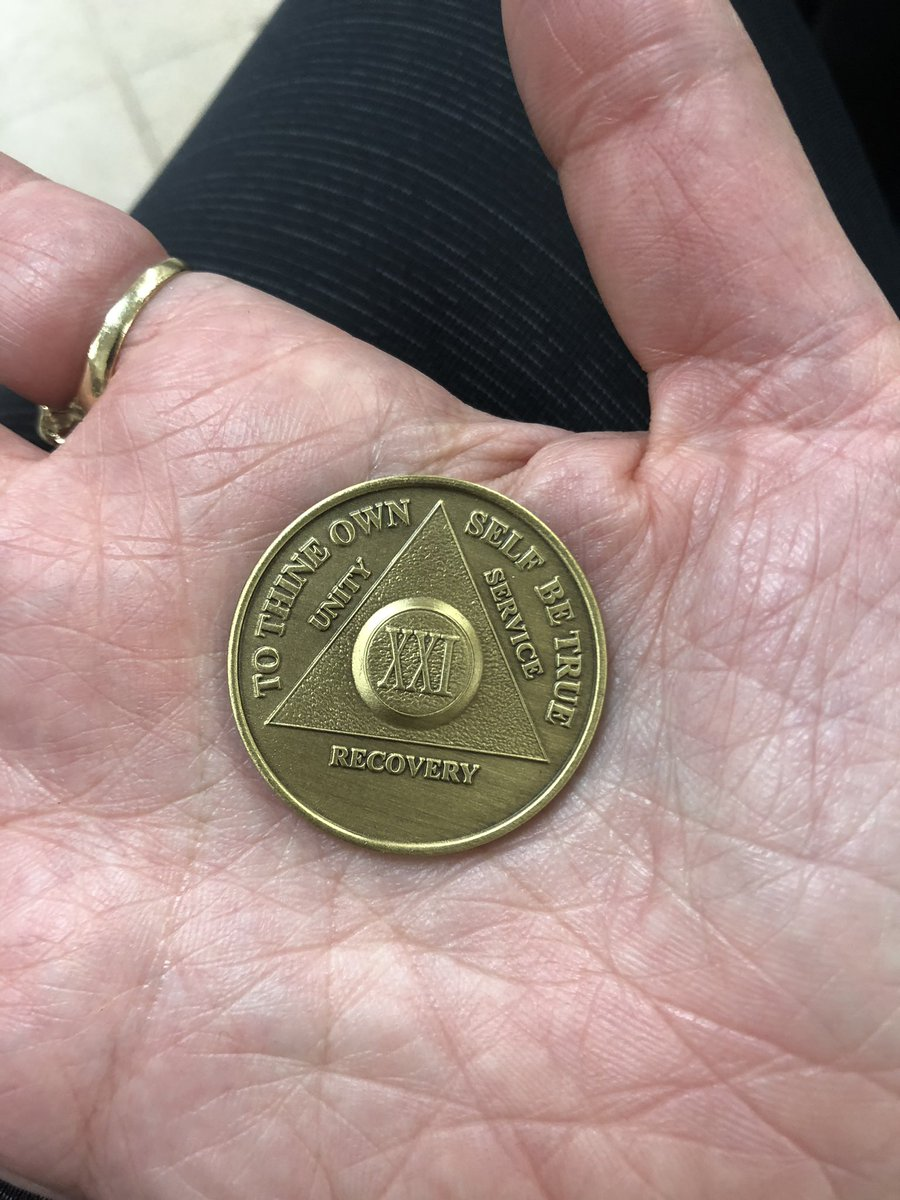 I got my 21 year chip today.