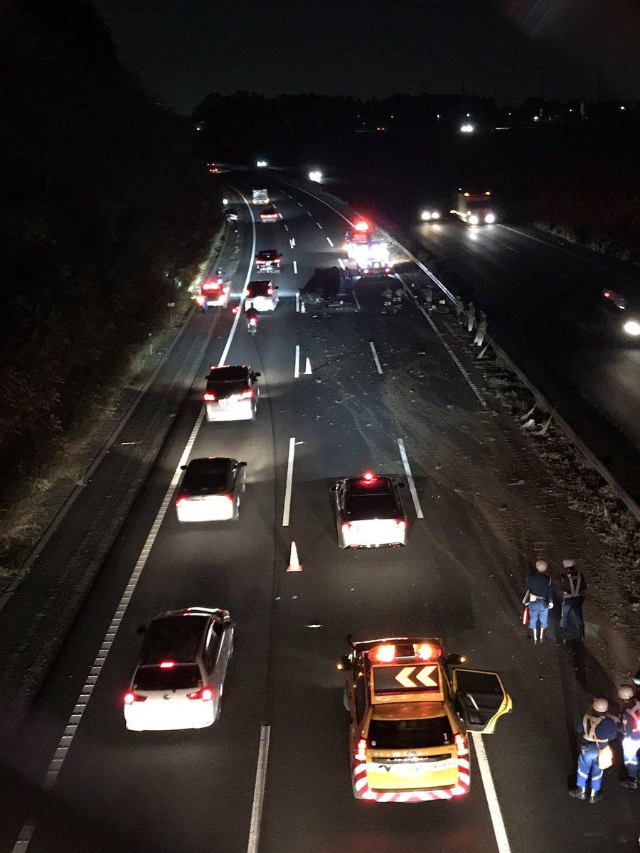 常磐道上りの谷田部IC~つくばJCT間で事故の現場画像