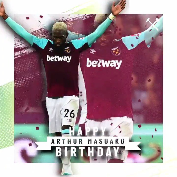 Wishing a very happy birthday to @ArthurMasuaku! 🎈 Have a great day, Arthur! 👊