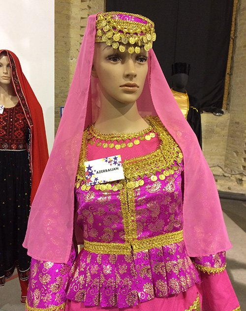 Nationalclothing On Twitter Women S Folk Clothing From Azerbaijan Azerbaijani Female Garments Are Often Adorned With Gold Embroidery And Gold Or Silver Coins This Costume Is A Replica So There Is No Real