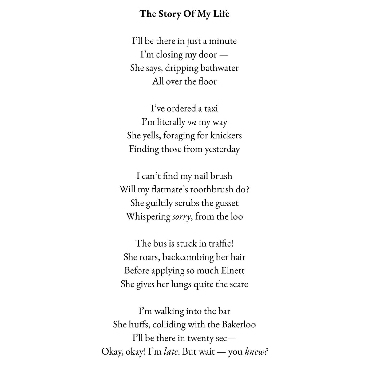 Pandora Sykes On Twitter New Poem If Only I Still Had