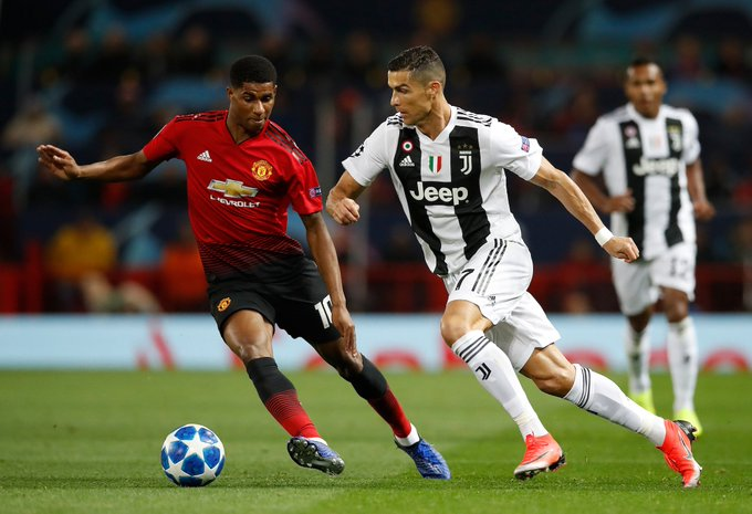 Marcus Rashford on Cristiano Ronaldo: For me, there is no bigger inspiration in football. People don't do that at his age, people are usually heading towards the end of their career and their level starts going down a little bit, but he's just gone up and up and up. Foto
