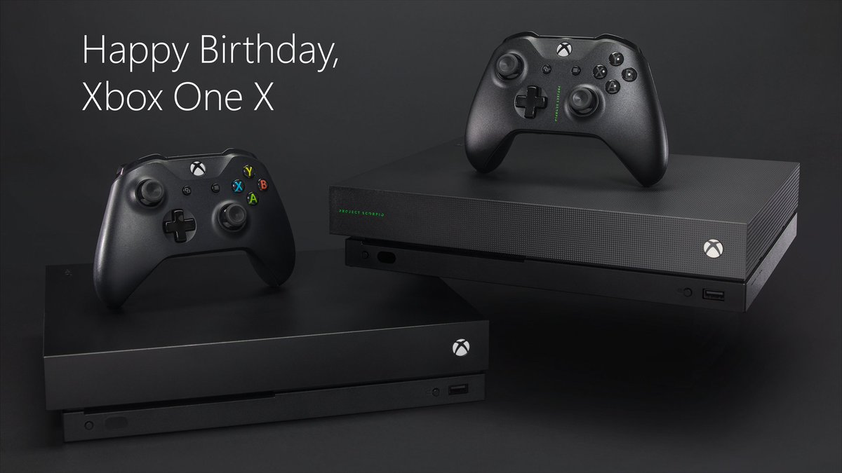 Xbox One X turns 1 today, and it's still the world's most powerful console 🎂🎉