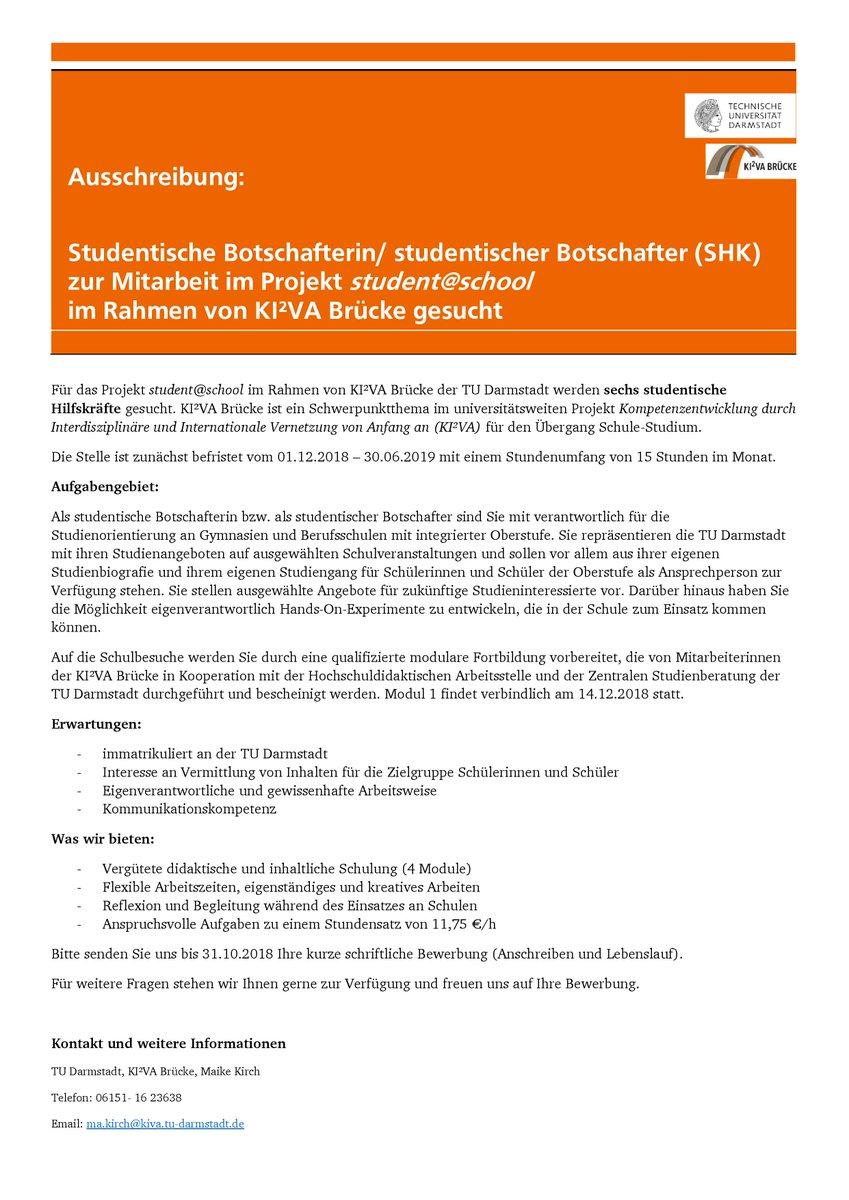 Bewerbungsablauf Allgemein Technische Universitat Darmstadt 1 13