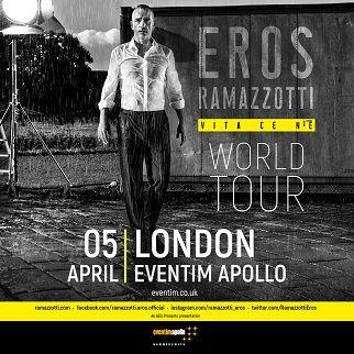Cosa fare a Londra: Concerto di Eros Ramazzotti a Londra https://t.co/8v81K7it33 I biglietti sono in vendita per questa serata a Hammersmith