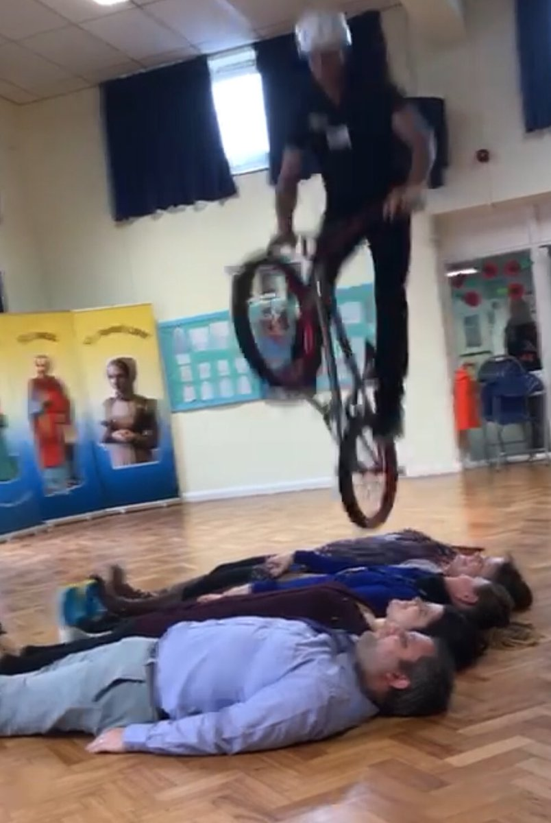 Thanks to @MikeBMXAcademy for coming to school today. The children have had lots of fun learning about how people face and overcome challenges in life and how this helps build their own resilience.