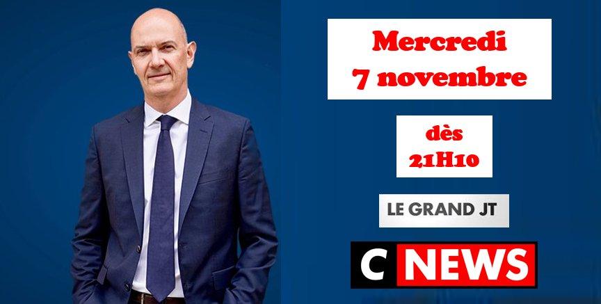 Retrouvez-moi ce soir à partir de 21h10 sur @CNEWS dans le #GRANDJT de @PATRICEBOISFER pour débattre des sujets dactualité et du résultat des élections de mi-mandat aux Etats-Unis #Midterms2018 #Macron