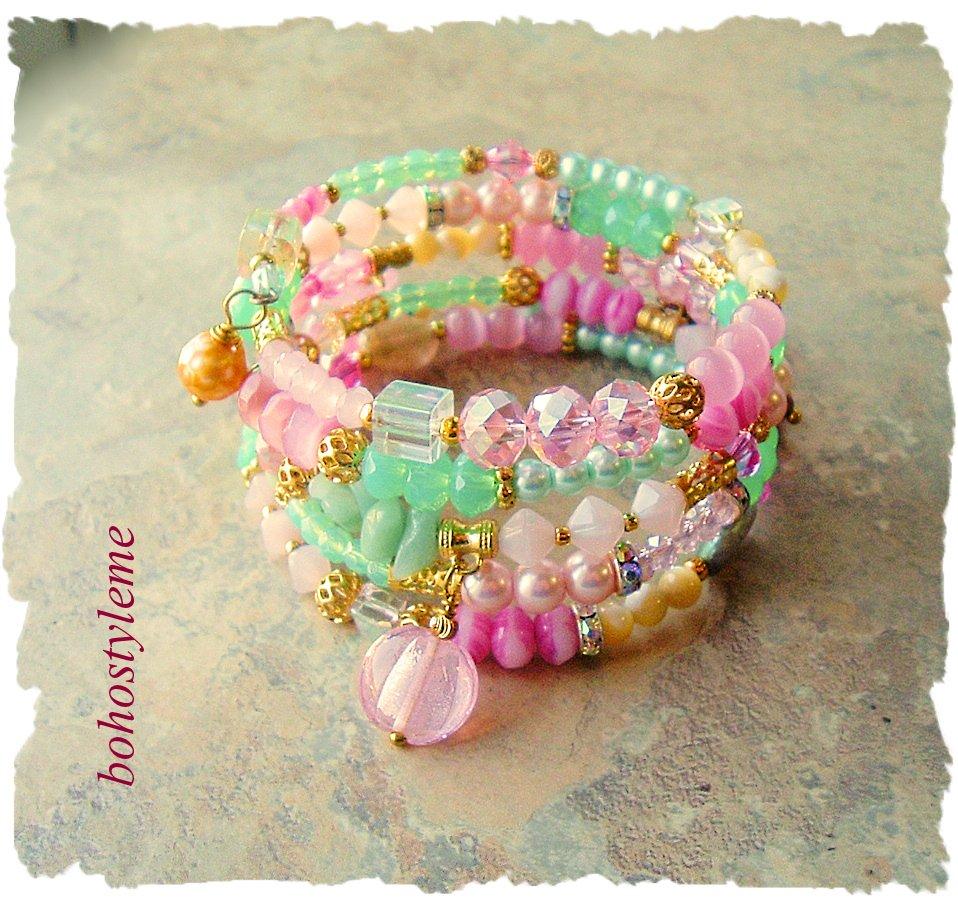 Image for the Tweet beginning: Bohemian Jewelry, Boho Glam Bracelet,
