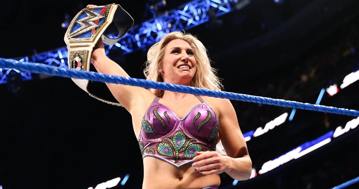 One year ago @MsCharlotteWWE won the #SDLive Women's Title and became the first ever female Grand Slam Champion in her hometown and shared a heartwarming moment with @RicFlairNatrBoy. <br>http://pic.twitter.com/gNO7uZMWmV