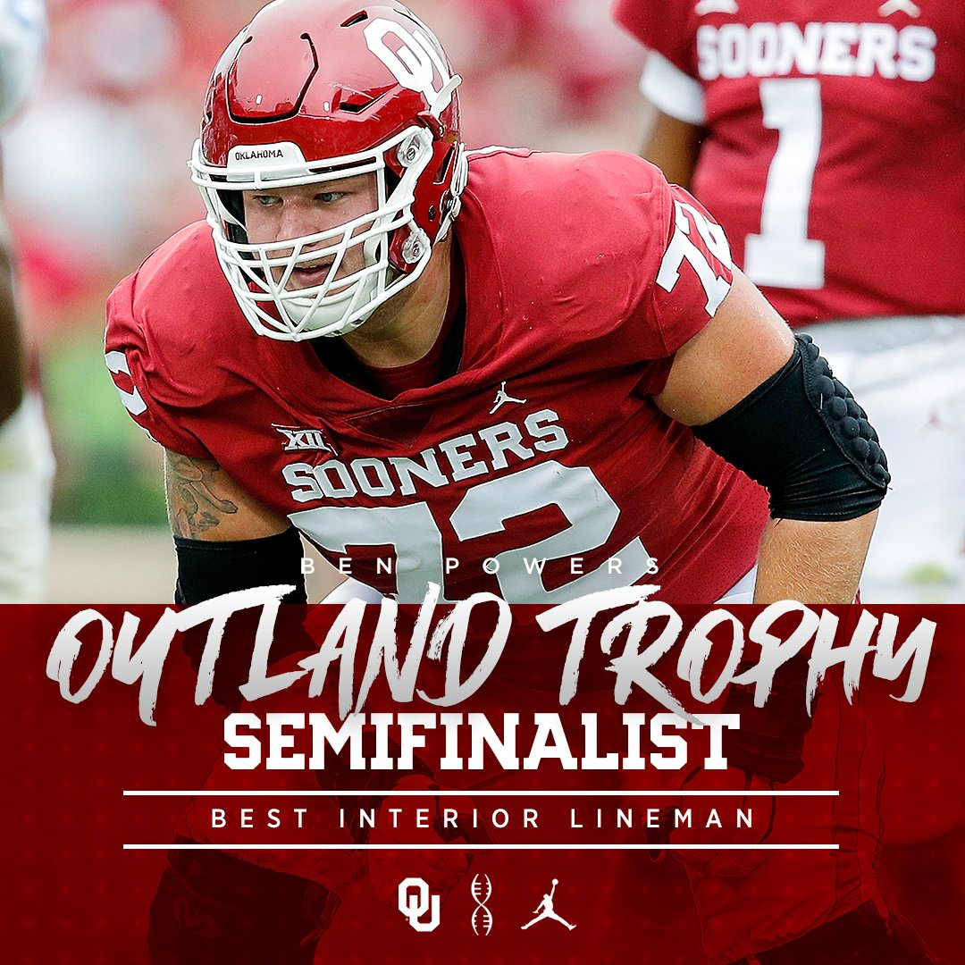 Powers one of eight semifinalists for the @outlandtrophy for the nation&#39;s best interior lineman. #OLU #OUDNA    http:// bit.ly/2zSsEv6  &nbsp;  <br>http://pic.twitter.com/YriaYLuBIW