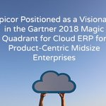 """We are excited to announce #Epicor has been positioned in the Visionaries quadrant of the first """"Magic Quadrant for #CloudERP for Product-Centric Midsize Enterprises"""" by @Gartner_inc .  https://t.co/zAGo498s8l #magicquadrant #epicormagicquadrant"""