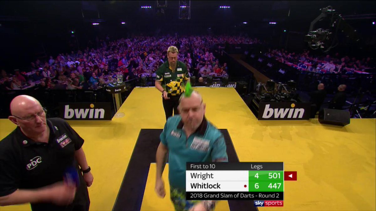 200 match 180s in the 2018 bwin Grand Slam of Darts so far! #bwinDarts