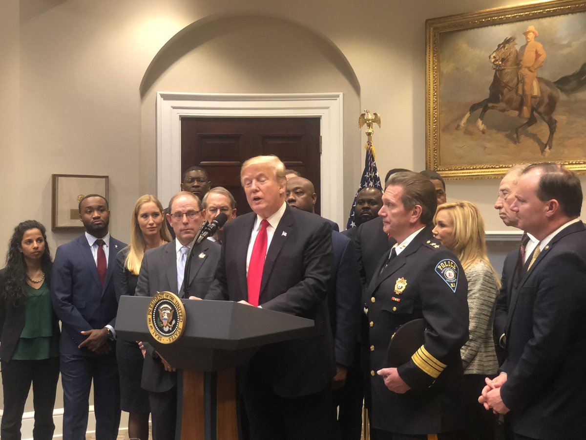 Even as a Democrat, I was honored to be at the @WhiteHouse standing by @realDonaldTrump as he announced his support for the prison and sentencing reform bill, #FirstSTEPAct.