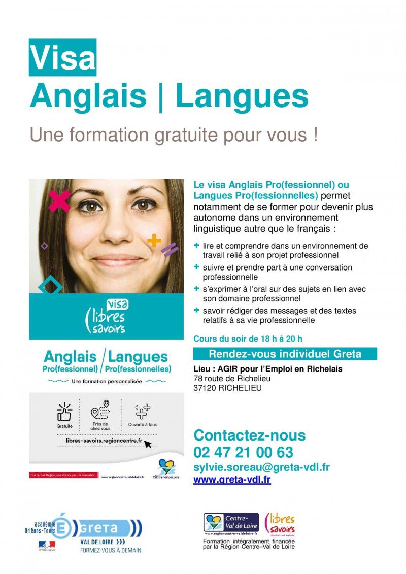Image for the Tweet beginning: #Formation en #Anglais à #Richelieu.  Il