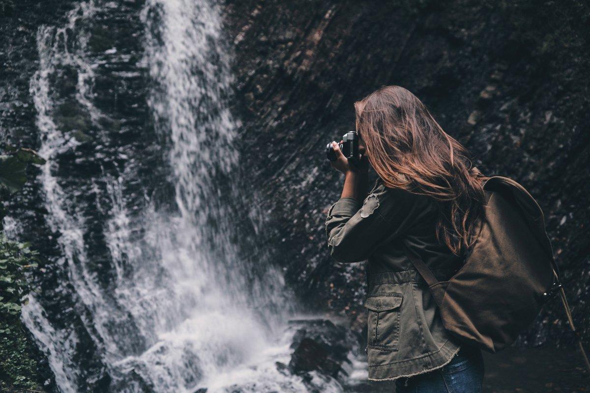 В чем фотографироваться на водопадах