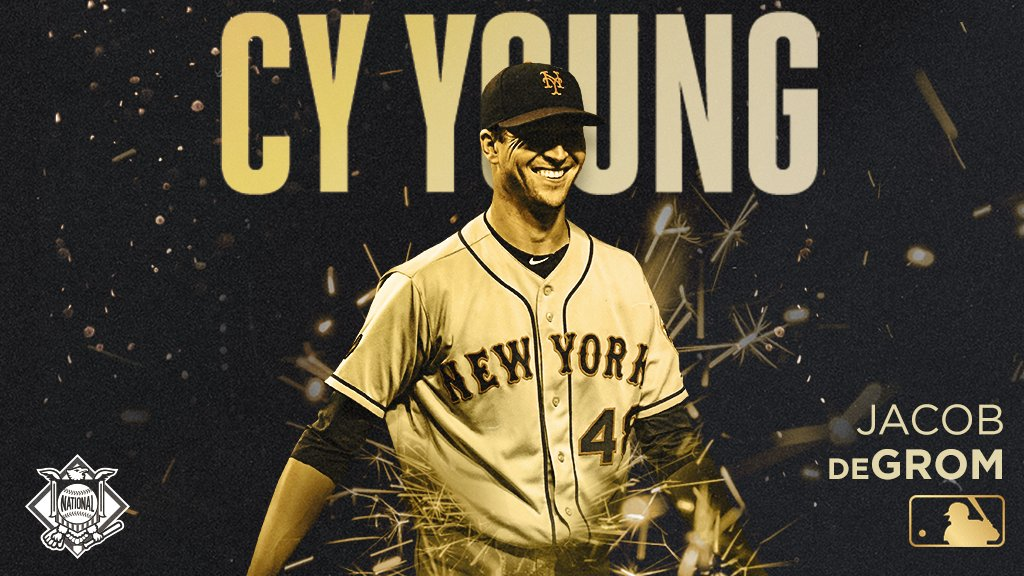 Straight deGromination.     @jdegrom19 is your 2018 NL Cy Young Award winner.