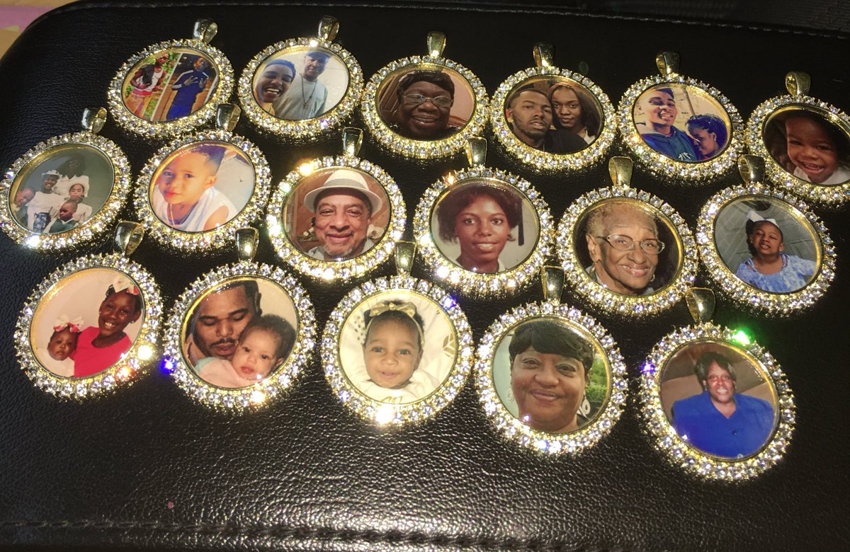 Today's batch 😩😍 photo necklaces made by me 🤗