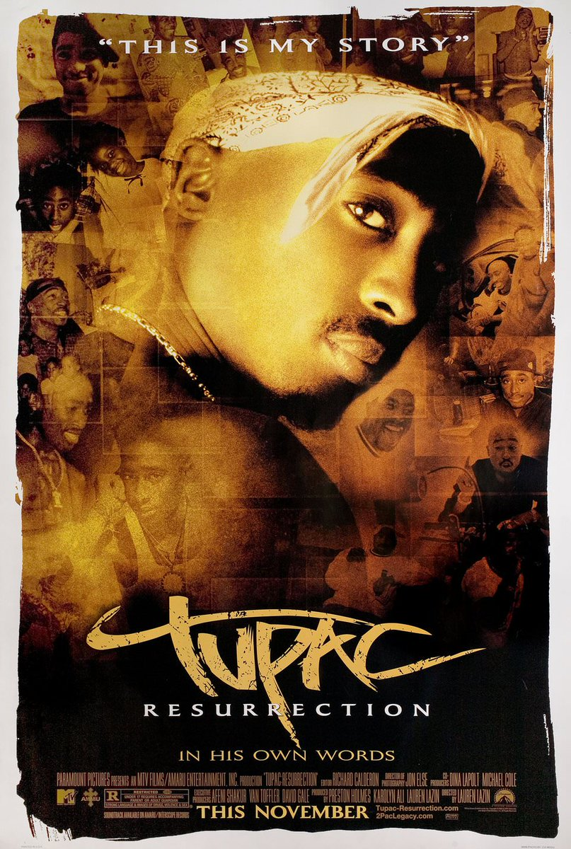 On this day in 2003, &quot;Tupac: Resurrection&quot; was released. The film was nominated for Best Documentary at the 2005 @TheAcademy Awards. #Tupac #2PAC<br>http://pic.twitter.com/L5wiXGXwzl
