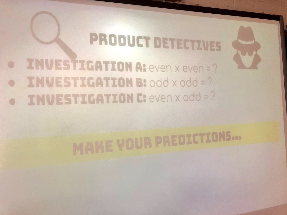 Today students were detectives to investigate even & odd products in a multiplication chart. @CloughPikeElem #WCconnects @mathbarb