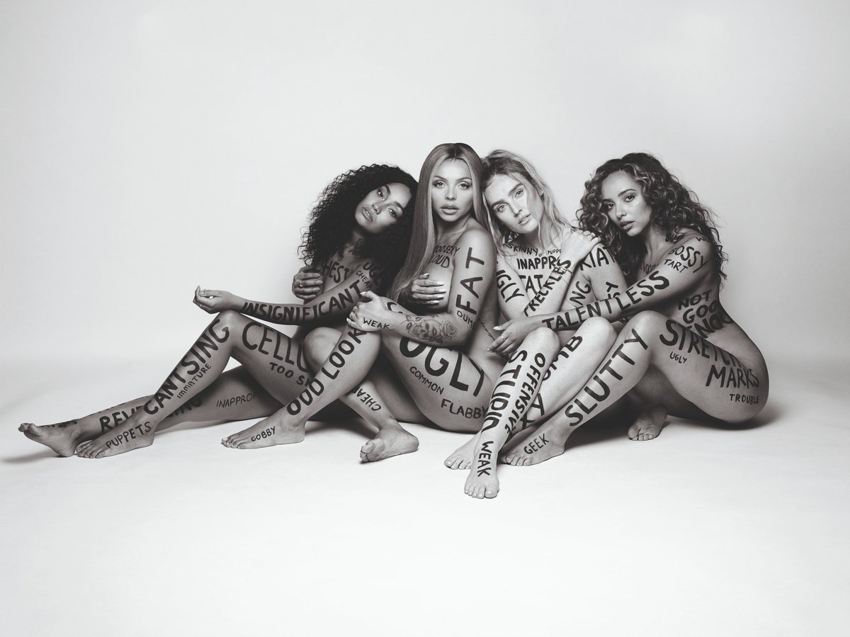 Take off all my makeup cos I love what's under it  Rub off all your words don't give a fuck I'm over it  Jiggle all this weight, yeah you know I love all of this  Finally love me naked  Sexiest when I'm confident  #LM5 featuring #Strip is coming on Friday 16.11.18  The girls x