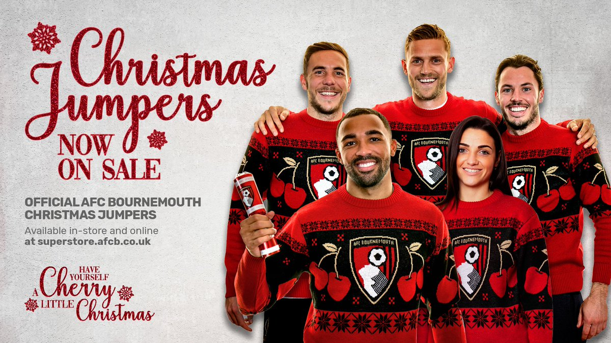 Have yourself a Cherry little Christmas... 🎅 Our 2018 Christmas jumper is now available in-store and online! 🛍️: bit.ly/AFCB_Superstore #afcb 🍒
