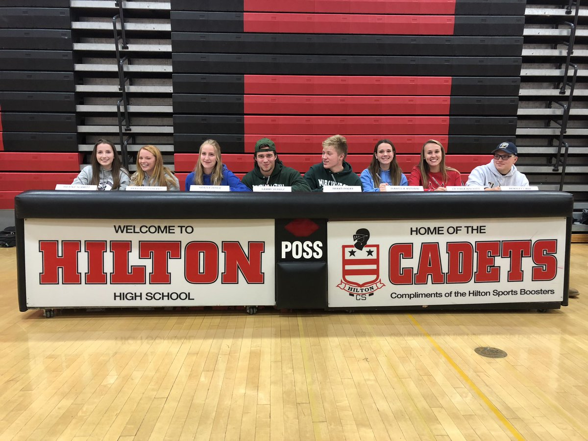 Congrats to our 8 Student Athletes signing their Letter of Intent. #GoCadets