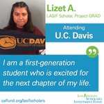 Image for the Tweet beginning: Lizet is a #LASIFScholar who