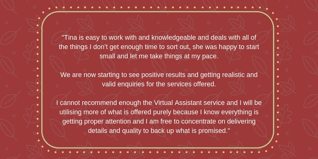 Good evening #malvernhillshour.  I hope you are all well and having a good week.  I wanted to share a recent review I have received.  It&#39;s always nice to receive such kind words!  #virtualassistant #smallbusinesssupport #pa #socialmedia<br>http://pic.twitter.com/a7poHf7hli