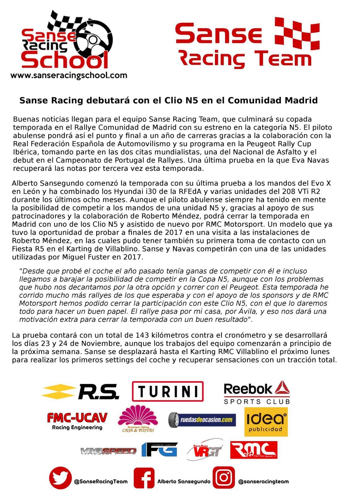 CERA: 9º Rallye Comunidad de Madrid - RACE [23-24 Noviembre] Dr_TZflX0AAjukw