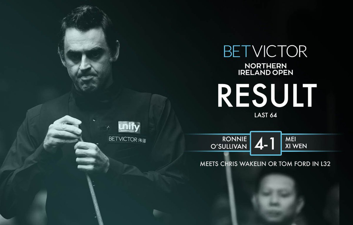 28 to go...  @ronnieo147 records career century #972 on the way to beating Mei Xi Wen [4-1] in the last 64 of the @BetVictor Northern Ireland Open!   When's that 1000th coming? 🤔#NIOpen