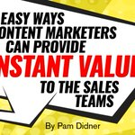 My post on @CMIContent offers --> 3 Easy Ways Content Marketers Can Provide Instant Value to the #Sales Teams. Check it out https://t.co/q55XotcmJm #SalesEnablement #ContentMarketing #marketing