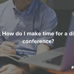 Q4: What are some pro-tips for clearing your schedule to attend a digital conference? #SproutChat