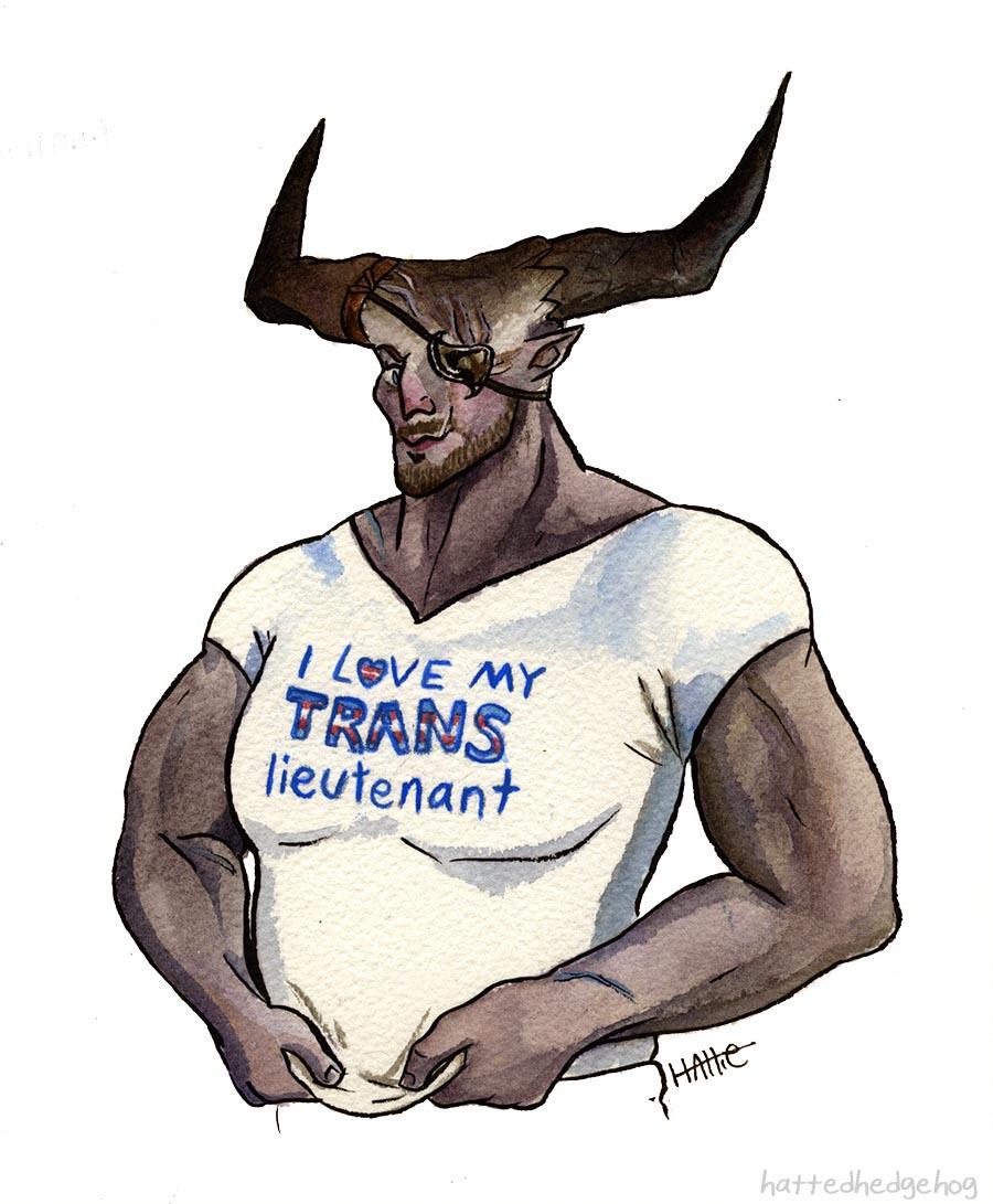 It's #TransAwarenessWeek  so you bet I'm going to be drawing Krem Aclassi appreciation. #dragonageinquisition #bioware<br>http://pic.twitter.com/t7EJQaxTKb
