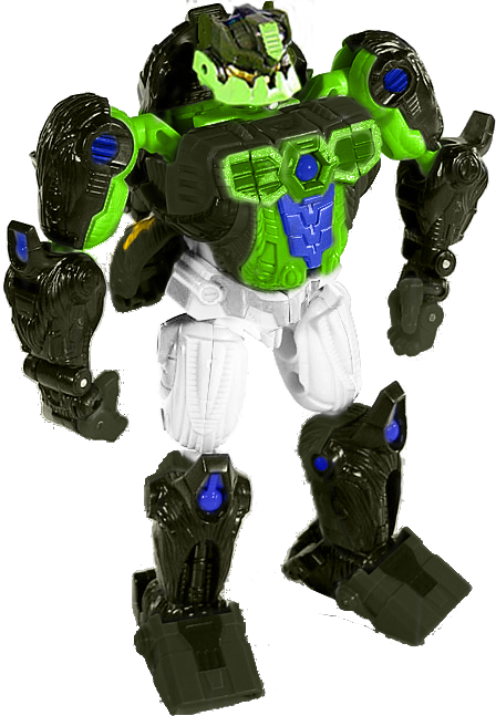 &quot;In an alternate universe where the inhabitants of Cybertron&#39;s colonies arrived on different worlds, the Velocitronian bruiser Crumplezone is instead an inhabitant of Animatron, the Jungle Planet, where he uses his superior strength to intimidate those weaker than him.&quot;<br>http://pic.twitter.com/DicSNOady5