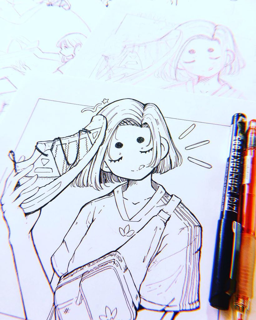 Here are part of the process of the illustration for the activation I did for Adidas this year.  So sorry for the inactivity lately ;; ⠀⠀⠀⠀⠀⠀⠀⠀⠀⠀⠀⠀ <br>http://pic.twitter.com/zMDbt1VweP