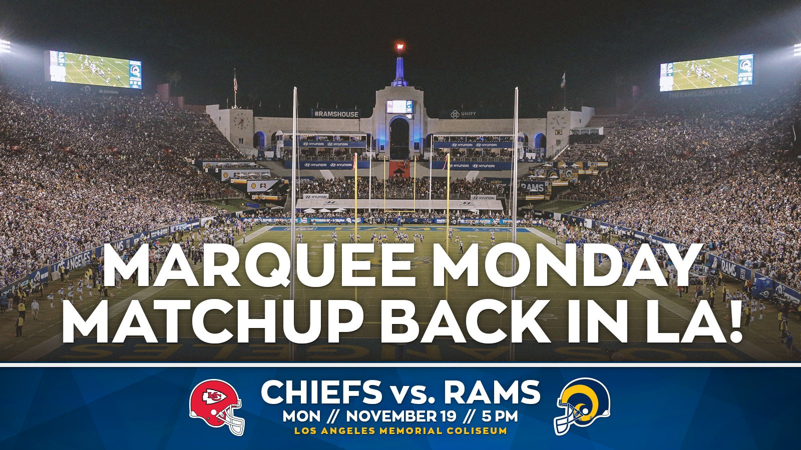 #MNF is back in Los Angeles!   Secure your seats �� » https://t.co/9AIoJqpnJV https://t.co/hgFOYqcMgQ