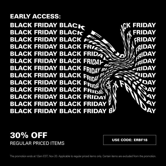Sole Links On Twitter Ad Black Friday Early Access Via Hbx 30 Off Regular Priced Items With Code Erbf18 At Checkout Shop Here Https T Co Dqgmnzmaxq Https T Co 99uf4yhtsm