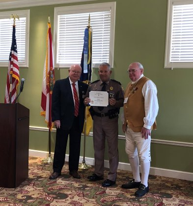 #FHP Captain Michael Gideons and Trooper George Smyrnios were recently honored for their achievements in law enforcement by the Naples Chapter of the Florida Sons of the American Revolution. <br>http://pic.twitter.com/3vQSaL7gFT