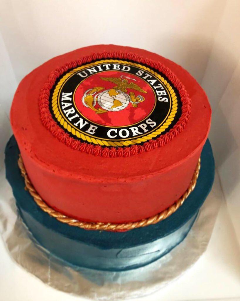 Superb Kj Cupcakes On Twitter 243Rd Marine Corps Birthday It Was A Birthday Cards Printable Trancafe Filternl