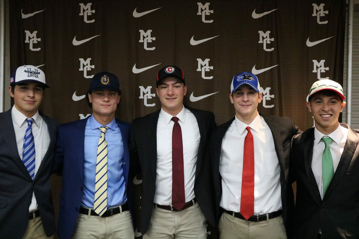 Congrats to our student-athletes who signed their letters of intent today! Luke Pappas (Heartland Community College), Kevin Dowling (Murray State), Nic Vitiritti (Carthage College), Anthony Kubik (Rockhurst Univ.), Sergio Valencia (Univ. of Wisconsin Green Bay) #WeAreMC