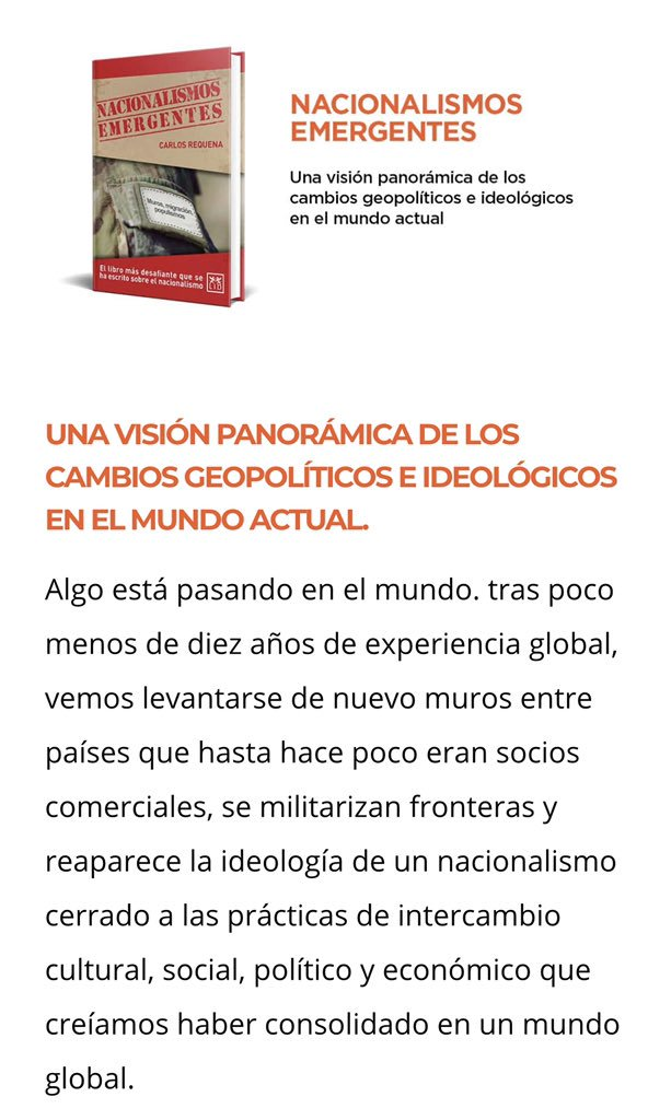 Nacionalismos emergentes: El libro más desafiante que se ha escrito sobre el nacionalismo