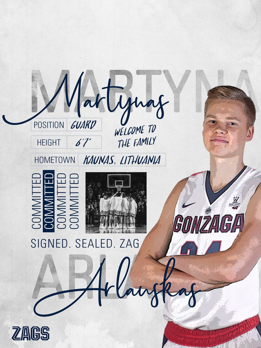 🇱🇹➡️🇺🇸  Welcome to the fam Martynas   #UnitedWeZag