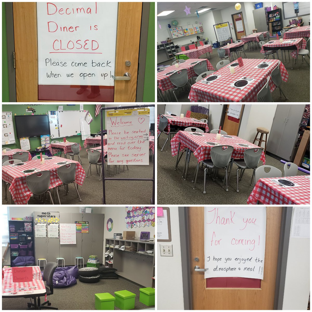 Ready for Decimal Diner! Can't wait for my customers tomorrow! #bethewildcard #iteachmath #lovemyjob