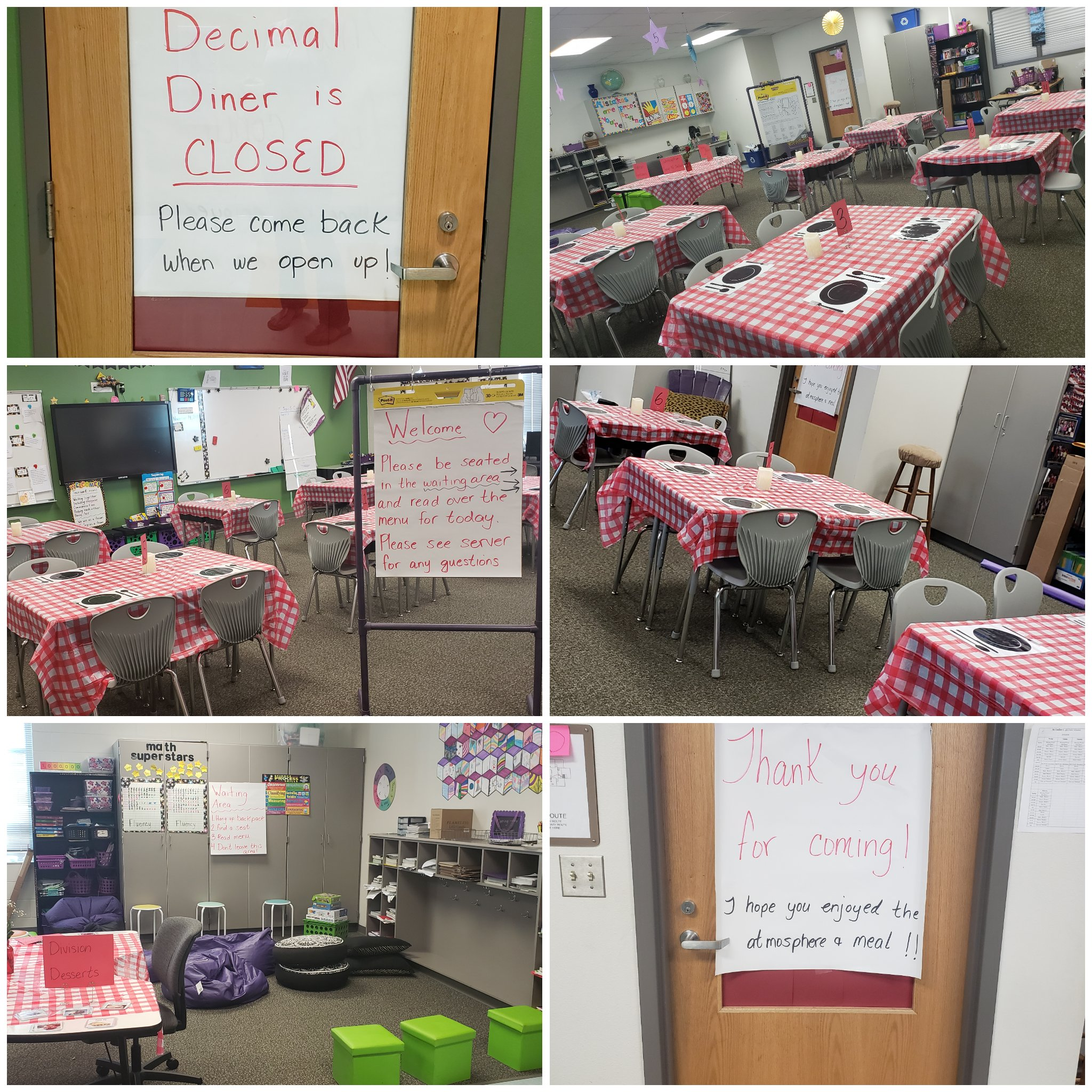 Ready for Decimal Diner! Can't wait for my customers tomorrow! #bethewildcard #iteachmath #lovemyjob https://t.co/172yC8ncgw