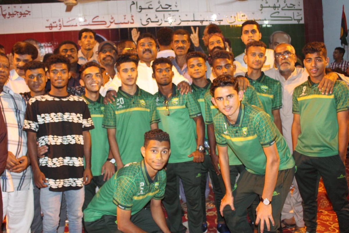 Reception under 15 Pakistan Football Team organized by PPP Distt South.Cheaf Guest Syed Nasir Hussain Shah Minster W&amp;S. <br>http://pic.twitter.com/Etn3kW93iw