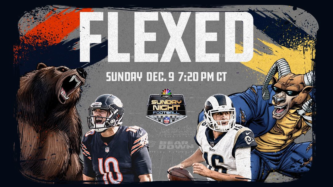 Getting used to this. 💪  #LAvsCHI   #DaBears